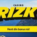 Rizk: eksklusiv 400% bonus + 25 freespins på Gonzos Quest